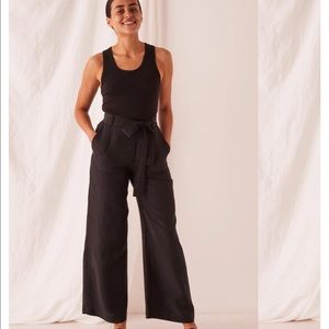 Black Pant with the- elegant with a wide leg